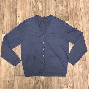 Brooks Brothers Men Blue Cardigan Size XL